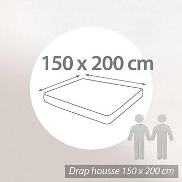 Prot ge matelas absorbant absorbant antonin blanc for Drap housse 150x200