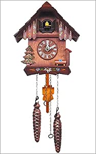 Black Forest German Battery Operated Cuckoo Clock with 12 Tunes from Alexander Taron