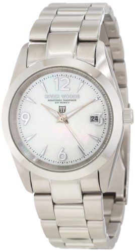 River Woods Women's RW 3 L WPD SS  Mother-of-pearl Watch