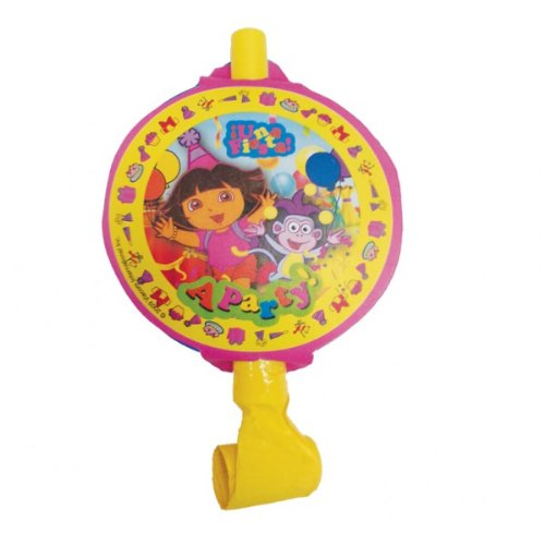 Dora The Explorer NEW DESIGN Party Blowouts (Makes Noise), pack of 8