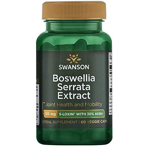 Swanson Boswellia Serrata Extract 125 Milligrams 60 Veg Capsules