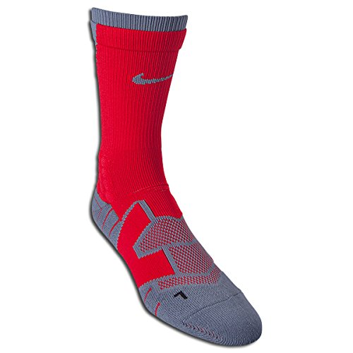 Nike Elite Vapor Football Crew Medium (Red/Grey) (Nike Boys Vapor Elite compare prices)