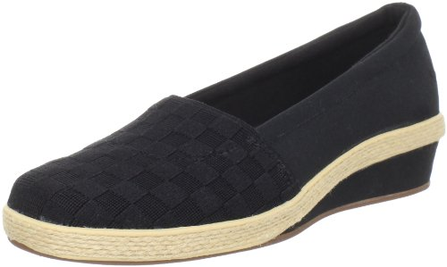 Grasshoppers Women's Brisbane Wedge Loafer,Black,11 M US