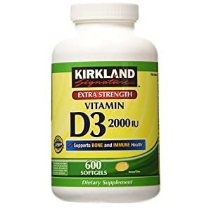 Kirkland Signature Extra Strength Vitamin D3 2000 I.U
