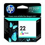 Printer Ink & Toner-HP No. 22 Tri-Color Ink Cartridge – Cyan, Magenta, Yellow