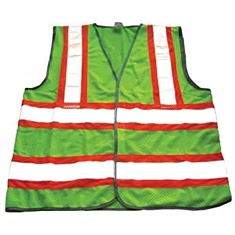 Hospeco 9582-LG Large Mesh High Visibility Class II Protection Safety Vest (2-Pack)