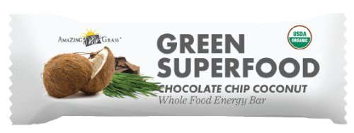 Amazing Grass Green Superfood Bar, Chocolate Chip Coconut, 12 Count by Amazing Grass