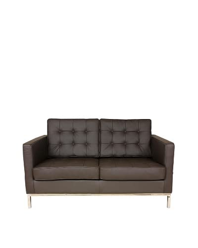 Control Brand The Draper Love Seat, Brown As You See