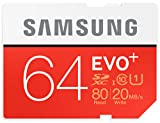 Samsung Speicherkarte SDXC 64GB EVO Plus UHS-I Grade 1 Class 10 für Foto und Video Kameras)