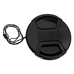 Fotodiox 72mm Inner Pinch Lens Cap with Cap Keeper (Black)
