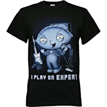 Family Guy Stewie I Play On Expert Men's T-Shirt