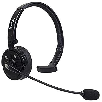 Jumbl BH21 Over the Head Bluetooth Wireless Headset for Cell Phones. 4x Noise Cancelling