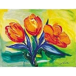 Orange Tulips Art Poster PRINT Alfred Gockel 16x12