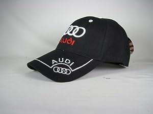 Audi Baseball Hat Cap Black Adjustable Velcro Back