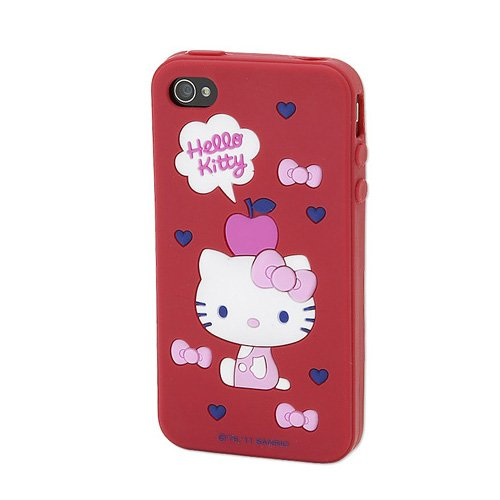 [Hello Kitty] iPhone4/iPhone4S dedicated soft case red star Sanrio mobile dec... (japan import)