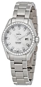 Omega Women's 231.15.30.61.55.001 Seamaster Aqua Terra Diamond Bezel Watch