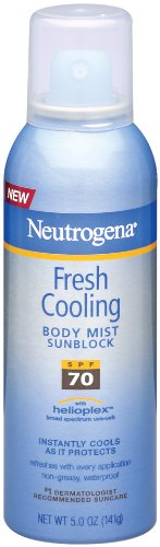 Neutrogena Fresh Cooling Body Mist Sunblock, SPF 70, 5 Ounce