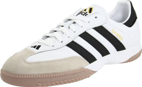Adidas Performance Men's Samba Millennium Indoor Soccer Cleat,White/Black/Gold,10.5 M US