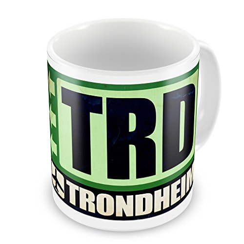 Coffee Mug Airportcode TRD Trondheim - Neonblond (Trd Coffee Cup compare prices)