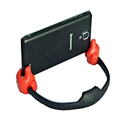 Universal Flexible Thumb Holder Stand Mount for Apple iPad Mini, iPhone, Smartphones and Android Tablets(BLACK+RED)