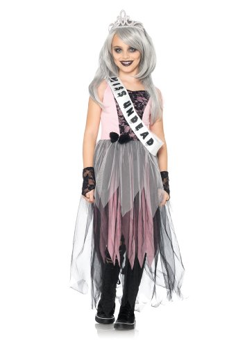4 PC. Girls' Zombie Prom Queen Dress