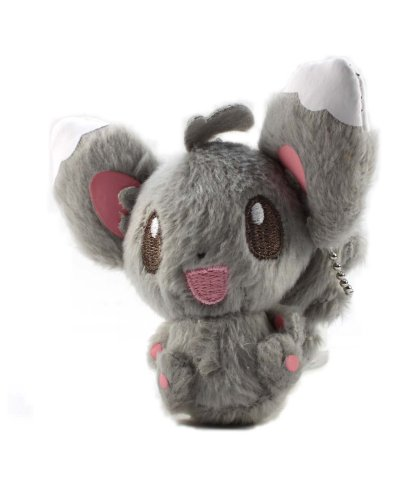 "Pokemon Best Wishes Black And White Banpresto Plush Ball Chain - 47331 - 3.5"" Chillarmy/Minccino - 1"