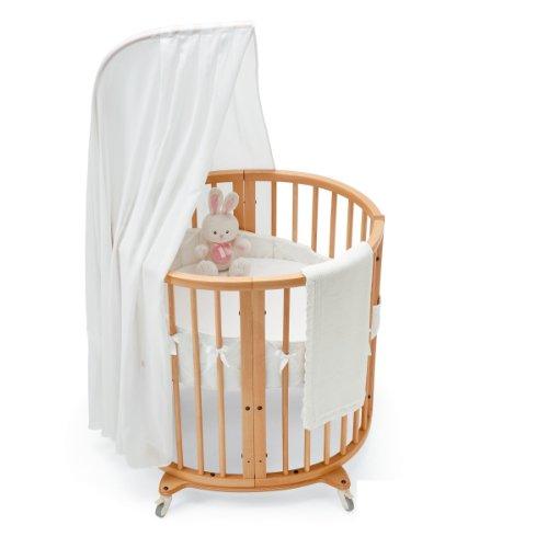 Stokke Sleepi Mini Bedding Set, Classic White | Bassinet Bedding Sets