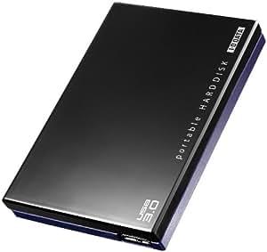 I-O DATA USB3.0 TV録画・PC対応 滑り止めラバー加工 ポータブルHDD「かくうす」(9.5mm薄型ドライブ採用)2.0TB  HDPE-UT2.0