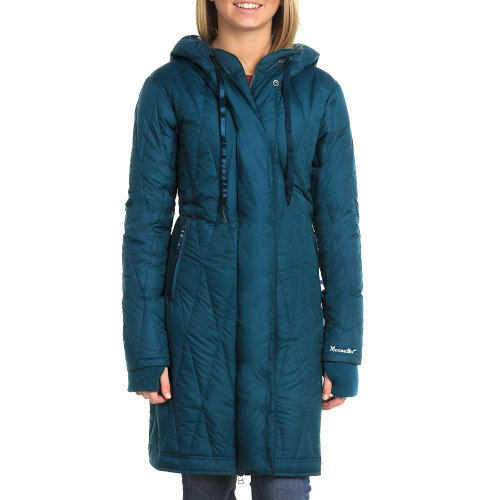 Moosejaw Leila Everett Long Down Jacket - Women'S Superior Blue / Heron Blue Small