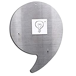 Comma Shaped Wall Décor Magnetic Board, Stainless Steel Bulletin Board, 7.87\