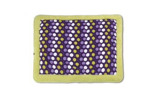Baby Boum 75 x 95cm Cotton-Rich Super Soft Oblong Padded Play Mat/Playpen Mat (Abstract Pruna/Grape,Sisko Collection)
