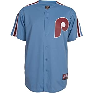 Majestic Athletic Philadelphia Phillies Replica Cooperstown Blank Alternate Jers by Majestic Athletic