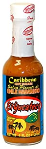 El Yucateco Caribbean Habanero Hot Sauce 4oz Bottle by El Yucateco