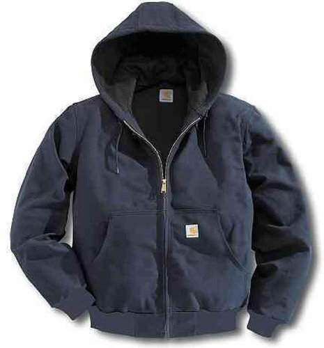 Carhartt Men's Big & Tall Thermal Lined Duck Active Jacket, Dark Navy, XXX-Large