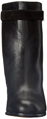 Nine West Women's Intimidate Leather Boot, Black/Black, 8.5 M US