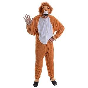Lion Adult Animal Fancy Dress Halloween Costume One Sz by wicked