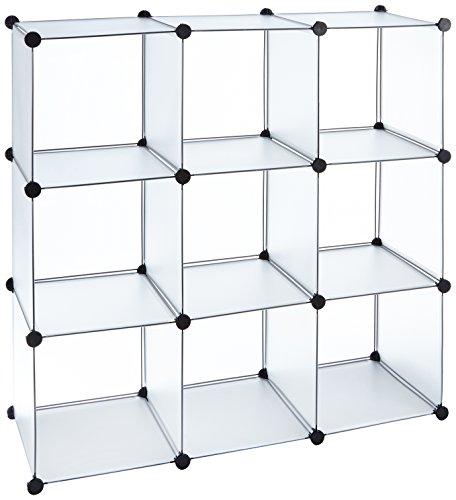 Bro-Flur-Regal-Schrank-Steckregal-Wandregal-Garderobe-Sideboard-in-Wei-Transparent