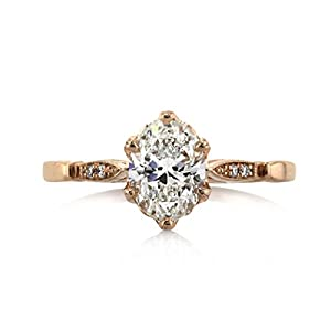 Mark Broumand 1.04ct Oval Cut Diamond Engagement Ring