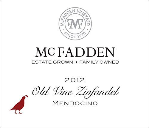 2012 Mcfadden Old Vine Zinfandel Mendocino County 750 Ml