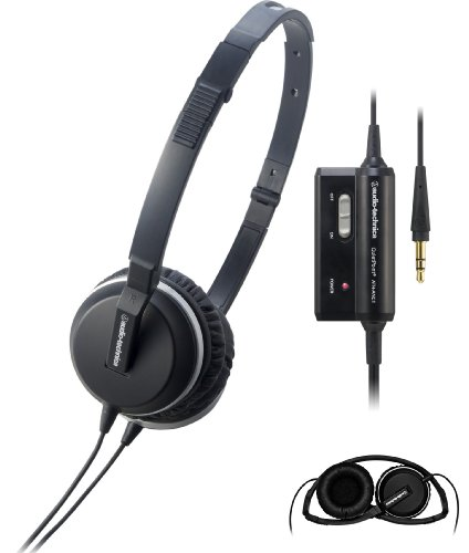 Audio Technica Ath-Anc1 Black | Active Noise Canceling Headphones (Japan Import)