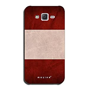 Mozine Maroon Drive printed mobile back cover for Samsung galaxy j5