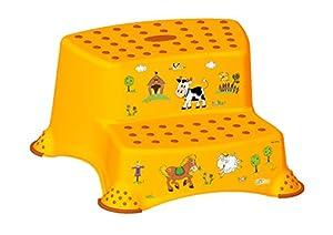 4 Set Z Funny Farm albaricoque INODORO Pieza sobrepuesta + Orinal niños + Taburete dos escalones +Cubo de pañales de OKT Kids