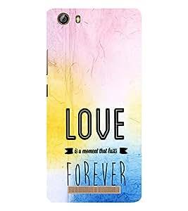 EPICCASE love forever Mobile Back Case Cover For Gionee Marathon M5 lite (Designer Case)