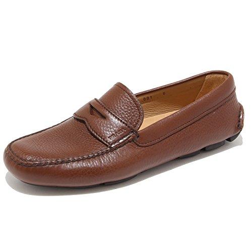 9599I PRADA scarpe uomo loafer shoes men cuoio [9]