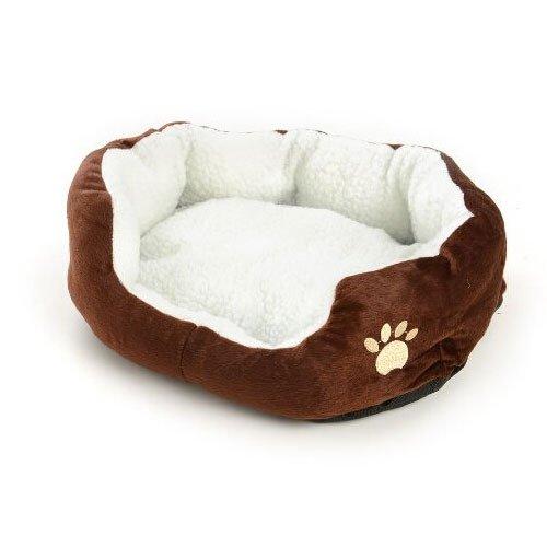 New Small Puppy Cotton Pet Dog Cat Soft Fleece Warm Bed House Nest Mat Medium Coffee
