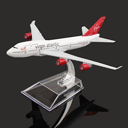 new-16cm-metal-plane-model-aircraft-b747-virgin-atlantic-aeroplane-scale-desk-toy-by-ktoy
