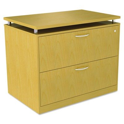 Alera® - Sedinaag Series Two-Drawer Lateral File, 36W X 22D X 29-1/2H, Maple - Sold As 1 Each - A Contemporary Classic With Clean Lines And Modern Silver Metalwork.