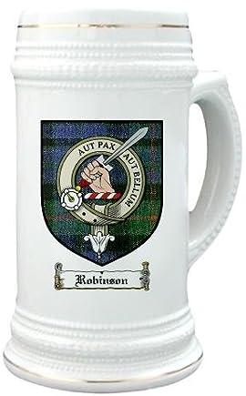Robinson Clan Crest / Clan Badge 22 oz. Stein Mug