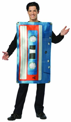 Cassette Tape Costume. Rewind to your childhood with this quirky costume idea which is ideal for 70s, 80s and 90s dress-up. Just don't get in a tangle!