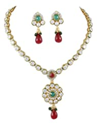 Karatcart 22K Goldplated Traditional Jewellery Set For Women - B016KM1F9G